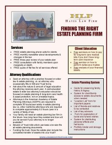Finding the Right Estate Planning Firm