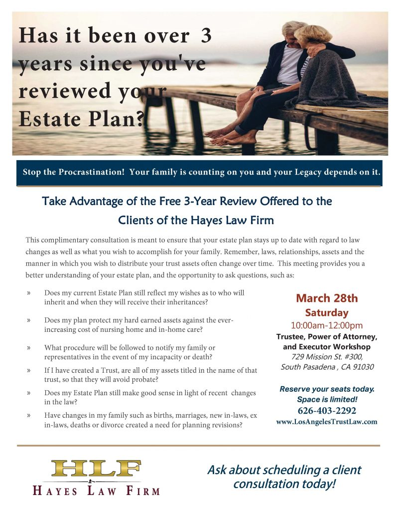 Client 3 Year Estate Plan Review