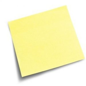 Amend Trust with Post It Note